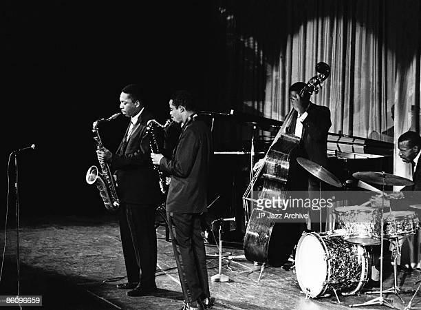 OUT Photo of John Coltrane 1961 7 John ColtraneEric DolphyArt Davis Elvin Jones Copenhagen 1961