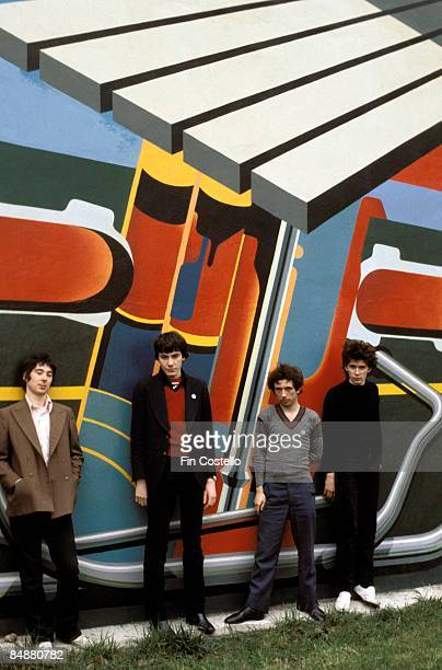 Photo of John MAHER and BUZZCOCKS and Pete SHELLEY and Steve GARVEY LR Steve Diggle John Maher Pete Shelley Steve Garvey