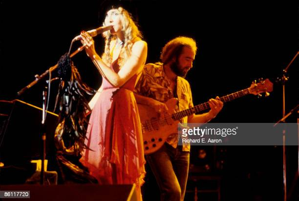 Photo of John McVIE and Stevie NICKS and FLEETWOOD MAC LR Stevie Nicks John McVie performing live onstage