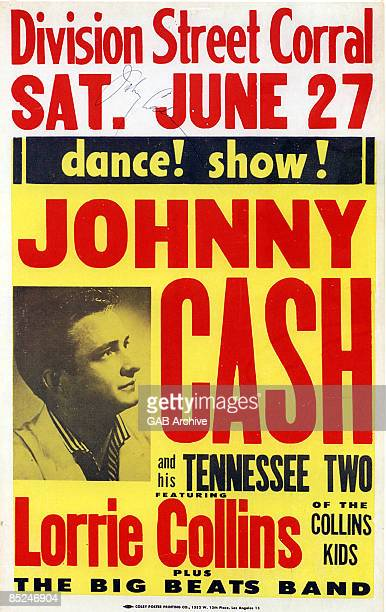 USA Photo of Johnny CASH and CONCERT POSTERS Johnny Cash