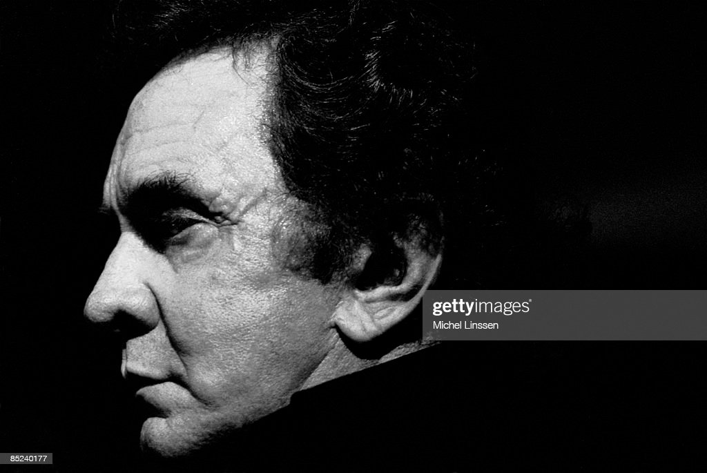 Photo of Johnny CASH; Posed portrait of Johnny Cash