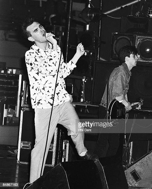 Photo of Johnny MARR and MORRISSEY and SMITHS Morrissey Johnny Marr performing live onstage