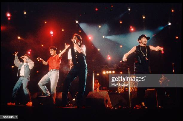 II Photo of Jordan KNIGHT and Jonathan KNIGHT and Donnie WAHLBERG and Joey McINTYRE and NEW KIDS ON THE BLOCK LR Jonathan Knight Jordan Knight Joey...