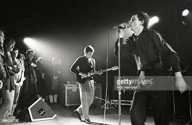 ROTTERDAM Photo of Joy Division performing live in Rotterdam Bernard Sumner Ian Curtis