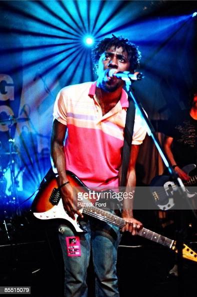 SUBTERANIA Photo of Kele OKEREKE and BLOC PARTY Kele Okereke playing Fender Performer guitar
