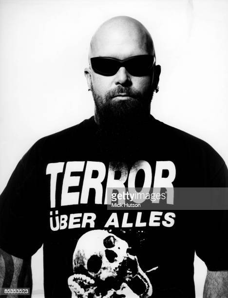 Photo of Kerry KING and SLAYER Posed studio portrait of Kerry King wearing sunglasses