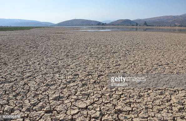 A photo of La Angostura Lake 14 km from Cochabamba in central Bolivia which has lost 50 percent of its water seen on September 2 2016 Bolivia is...