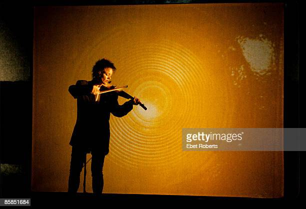 MUSIC Photo of Laurie ANDERSON performing live onstage playing violin