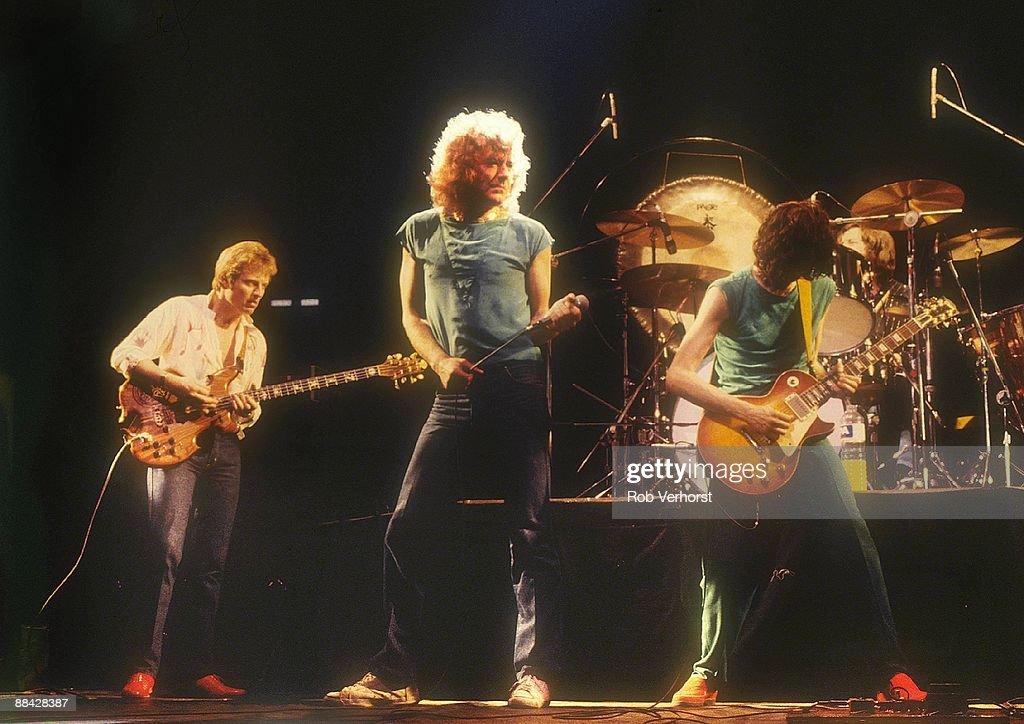 John Paul Jones, Robert Plant, Jimmy Page performing live onstage