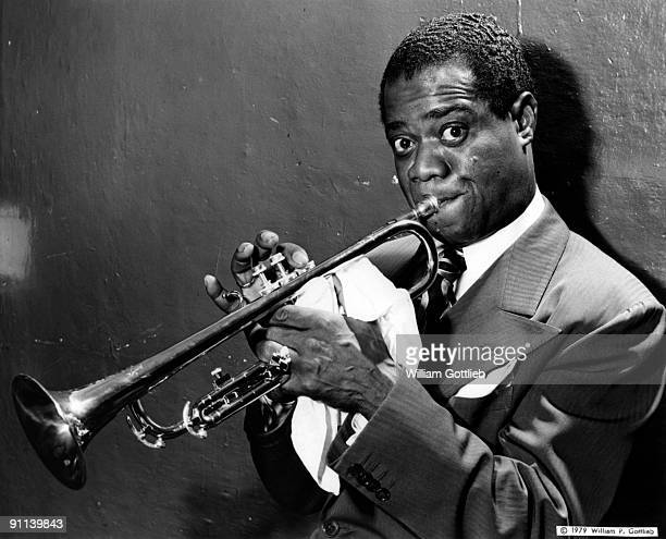 Photo of Louis ARMSTRONG Posed portrait of Louis Armstrong trumpet
