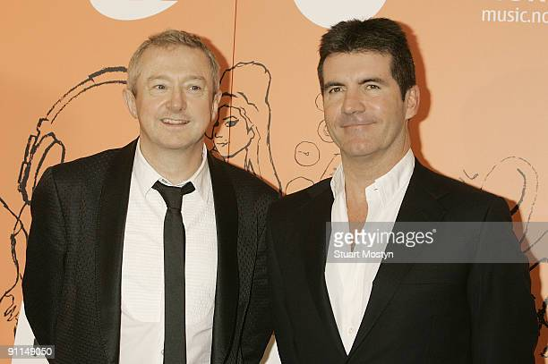HOTEL Photo of Louis WALSH and Simon COWELL Louis Walsh and Simon Cowell posed at The Music Industry Awards at the 2008 Music Industry Trusts Award...
