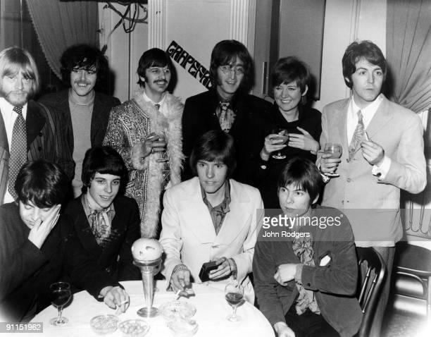 Photo of LULU and Brian JONES and GRAPEFRUIT and BEATLES LR Brian Jones DonovanRingo Starr John Lennon Lulu Paul McCartney at the launch of the group...