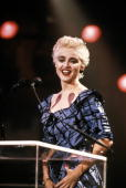 HALL Photo of MADONNA Madonna on stage at the 3rd MTV Music Awards