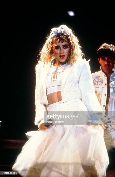 Photo of MADONNA Madonna performing on tour Virgin Tour