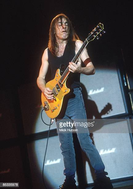 Photo of Malcolm YOUNG and AC/DC Malcolm Young performing on stage