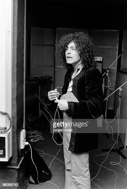 Photo of Marc BOLAN Marc Bolan / TRex Rosenberg Studios Copenhagen where Marc was recording March 1972