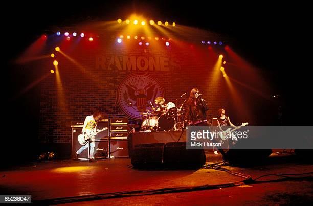 Photo of Marky RAMONE and RAMONES and Johnny RAMONE and Joey RAMONE LR Johnny Ramone Marky Ramone Joey Ramone CJ Ramone