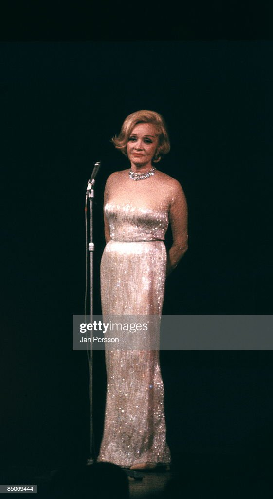 Photo of Marlene Dietrich 1; Marlene Ditrich Tivoli Gardens Copenhagen ca 1969