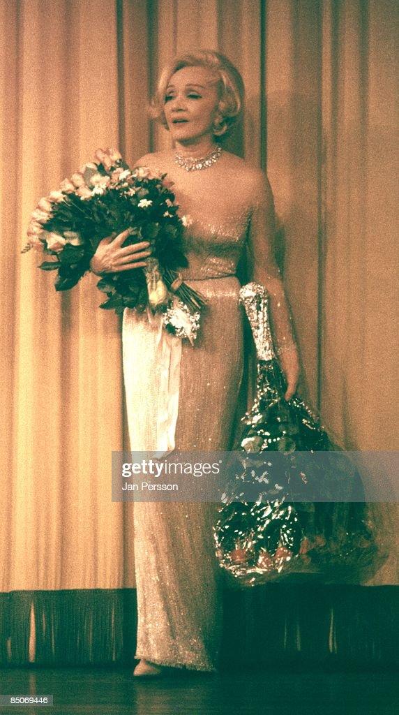 Photo of Marlene Dietrich 3; Marlene Ditrich Tivoli Gardens Copenhagen ca 1969