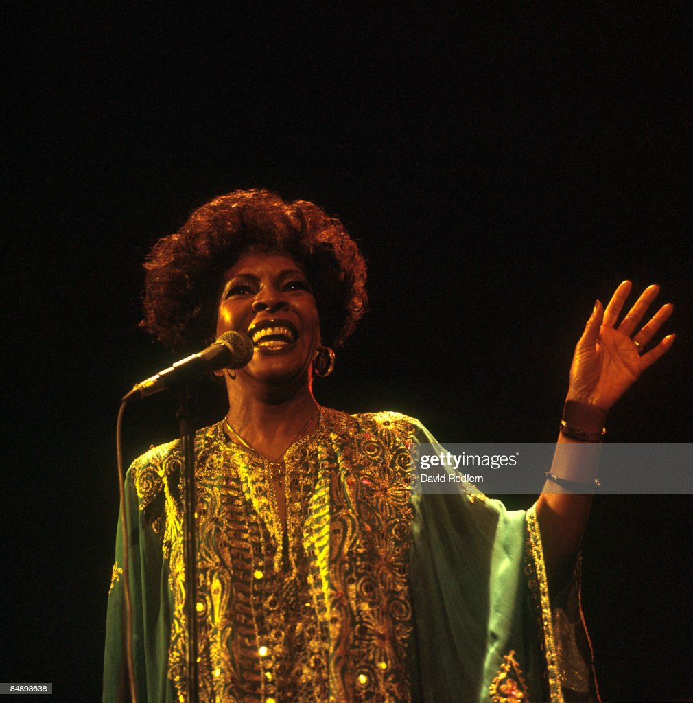 Photo of Martha REEVES; Martha Reeves performing on stage