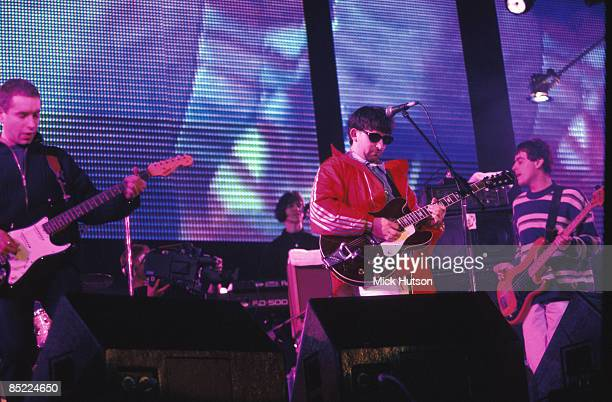 Photo of Martin CAMPBELL and LIGHTNING SEEDS and Ian BROUDIE and Ali KANE LR Ali Kane Ian Broudie Martin Campbell