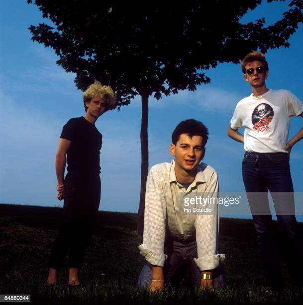 KINGDOM Photo of Martin GORE and Dave GAHAN and Andrew FLETCHER of DEPECHE MODE Posed in Basildon LR Martin Gore Dave Gahan Andrew Fletcher