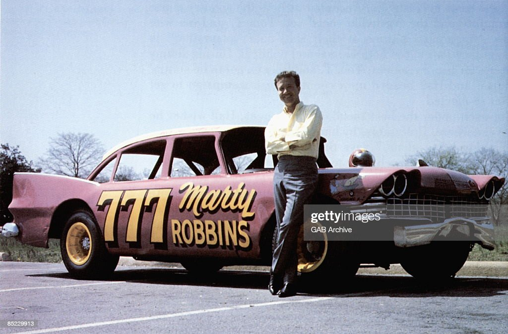USA Photo of Marty ROBBINS, Marty with his NASCAR race car