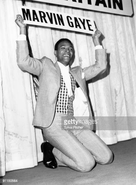 SQUARE Photo of Marvin GAYE Marvin Gaye pictured at an EMI Press Reception
