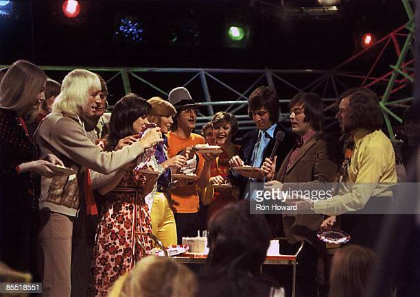 POPS Photo of Mary HOPKIN and Jimmy Savile and Pete MURRAY and Jonathan KING and Ed STEWART and Tony BLACKBURN Mary Hopkin Jimmy Savile Pete Murray...