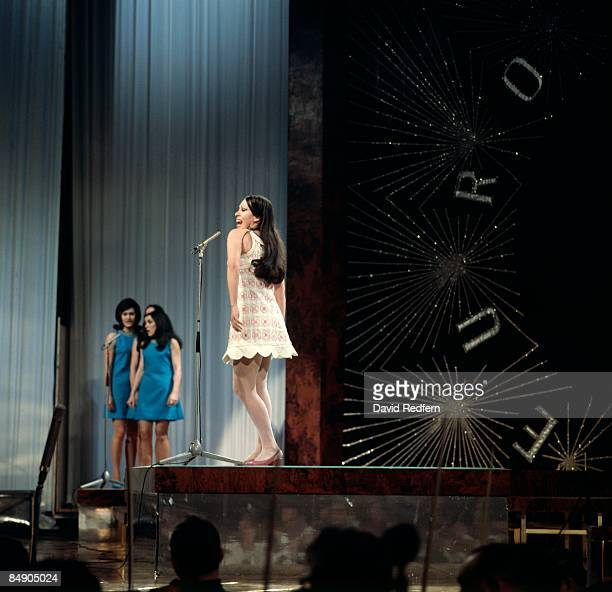 HALL Photo of MASSIEL Massiel performing on stage at the Eurovision Song Contest