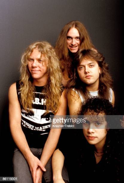Photo of METALLICA and Lars ULRICH and Kirk HAMMETT and James HETFIELD and Cliff BURTON James Hetfield Cliff Burton Lars Ulrich Kirk Hammett