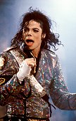 ROTTERDAM Photo of Michael JACKSON Michael Jackson performing on stage at the Feyenoord Stadium Dangerous Tour