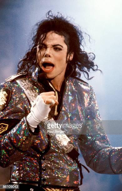 ROTTERDAM Photo of Michael JACKSON Michael Jackson performing on stage at the Feyenoord Stadium Dangerous Tour