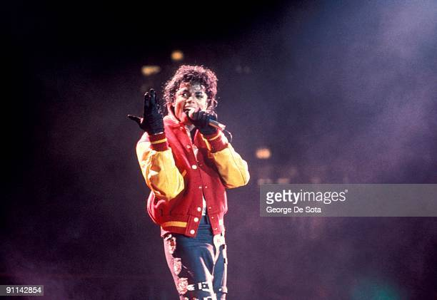 GARDEN Photo of Michael JACKSON Michael Jackson performing on stage performing Thriller Bad Tour Photo by George De Sota /Redferns