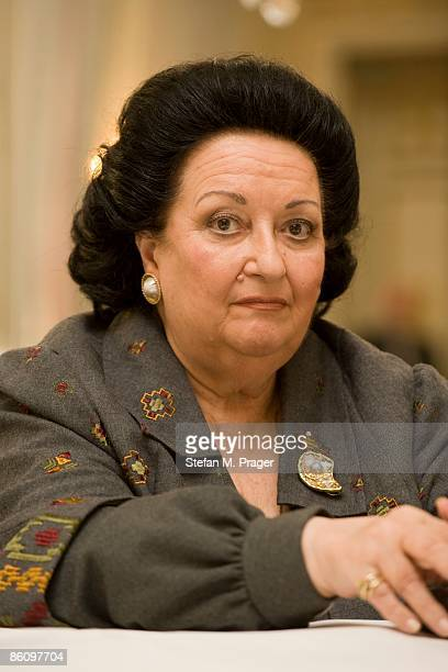 Photo of Montserrat CABALLE Posed portrait of opera singer Montserrat Caballe at the Hotel Bayerischer Hof