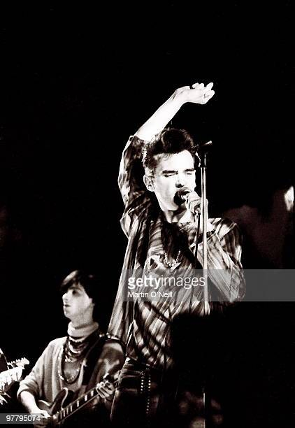Photo of MORRISSEY and SMITHS Morrissey performing live onstage