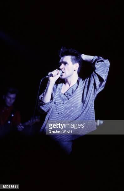 HALL Photo of MORRISSEY and The Smiths Morrissey performing live onstage