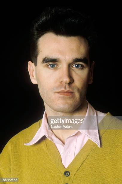 STUDIO Photo of MORRISSEY and The Smiths Morrissey posed studio