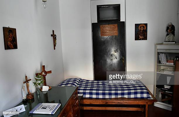 A photo of Mother Teresa's bed in the convent of the Missionaries of Charity in Rome on August 30 2016 Mother Teresa the revered but controversial...