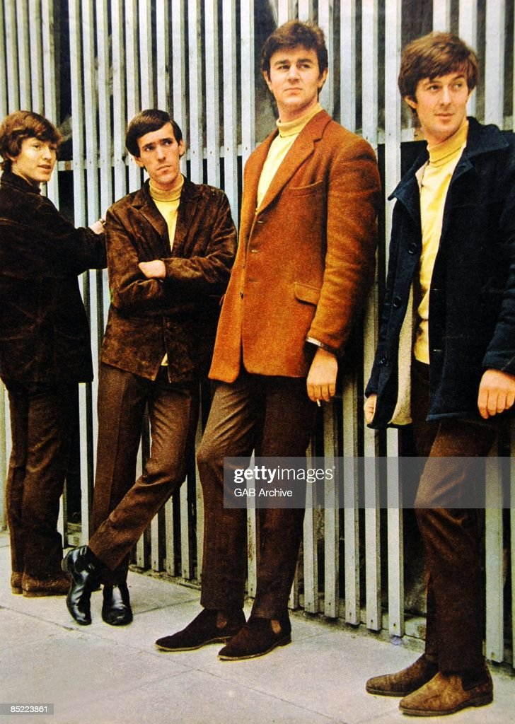 Photo of Muff WINWOOD and Steve WINWOOD and SPENCER DAVIS GROUP and Spencer DAVIS and Pete YORK; Group portrait - L-R Steve Windwood, Muff Windwood, Pete York and Spencer Davis