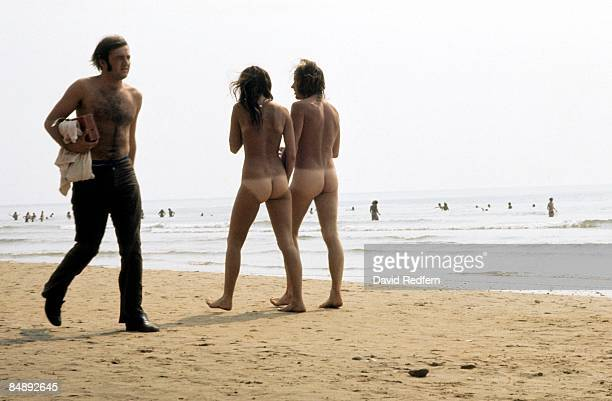 Photo of NAKED and HIPPIES and FANS and FESTIVALS naked hippies on the beach on the Isle of Wight during the festival