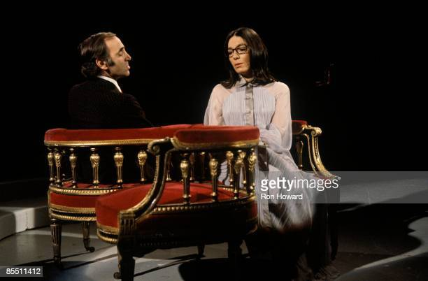 POPS Photo of Nana MOUSKOURI and Charles AZNAVOUR Charles Aznavour Nana Mouskouri