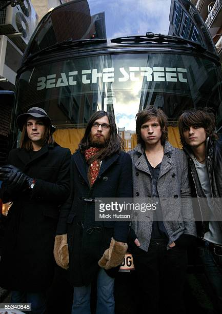 Photo of Nathan FOLLOWILL and KINGS OF LEON and Matthew FOLLOWILL and Jared FOLLOWILL and Caleb FOLLOWILL LR Caleb Followill Nathan Followill Matthew...