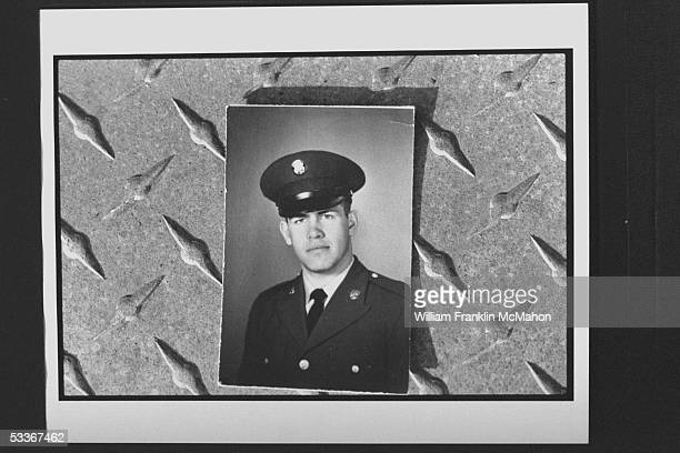 Photo of Natl Guardsman Leon 'Buck' Smith in uniform he was indicted for firing on Kent State University students during antiwar demo in which 4...