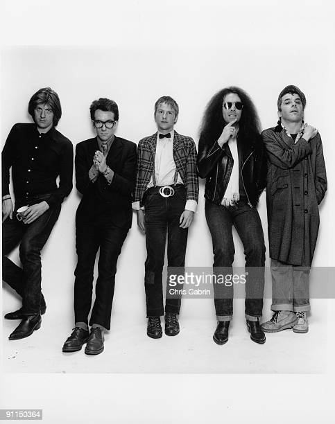 Photo of Nick LOWE and STIFF RECORDS and Elvis COSTELLO and Ian DURY LR Nick Lowe Elvis Costello Wreckless Eric Larry Wallis Ian Dury