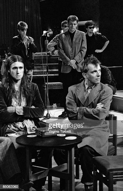 Photo of Nigel PLANER and MADNESS on the set of 'The Young Ones' w/Nigel Planer Rik Mayall
