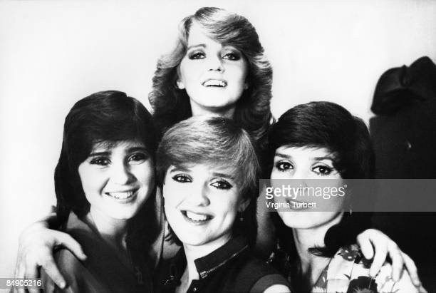 Photo of NOLAN SISTERS and Coleen NOLAN and Bernadette NOLAN and Linda NOLAN and Maureen NOLAN Posed group portrait LR Coleen Bernadette Linda and...