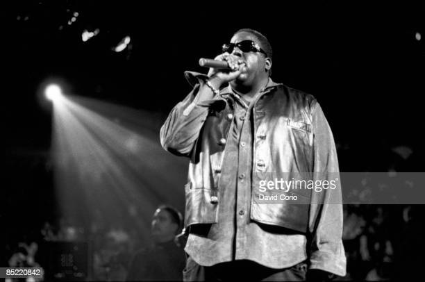 GARDEN Photo of NOTORIOUS BIG Notorious BIG performing at Madison Sq Garden for Urban Aid on 105 1995