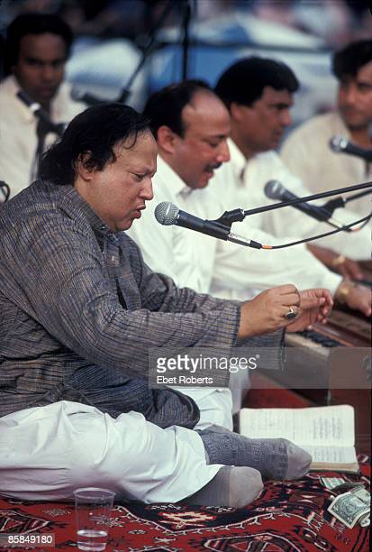 PARK Photo of Nusrat Fateh Ali KHAN Nusrat Fateh Ali Khan performing at Central Park Summerstage in New York City on August 14 1993