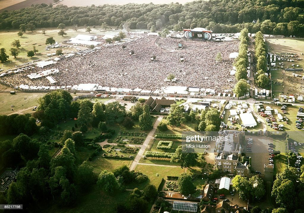 KNEBWORTH Photo of OASIS and KNEBWORTH, Aerial shot of the Oasis show